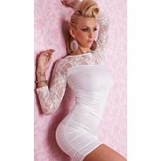 שמלה דגם DG בצבע לבן